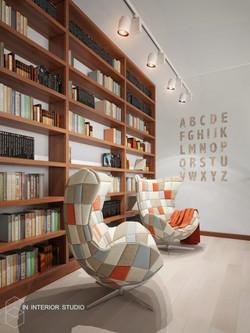 Библиотека, балкон второго этажа