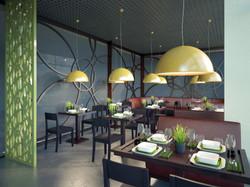 обеденный зал в кафе