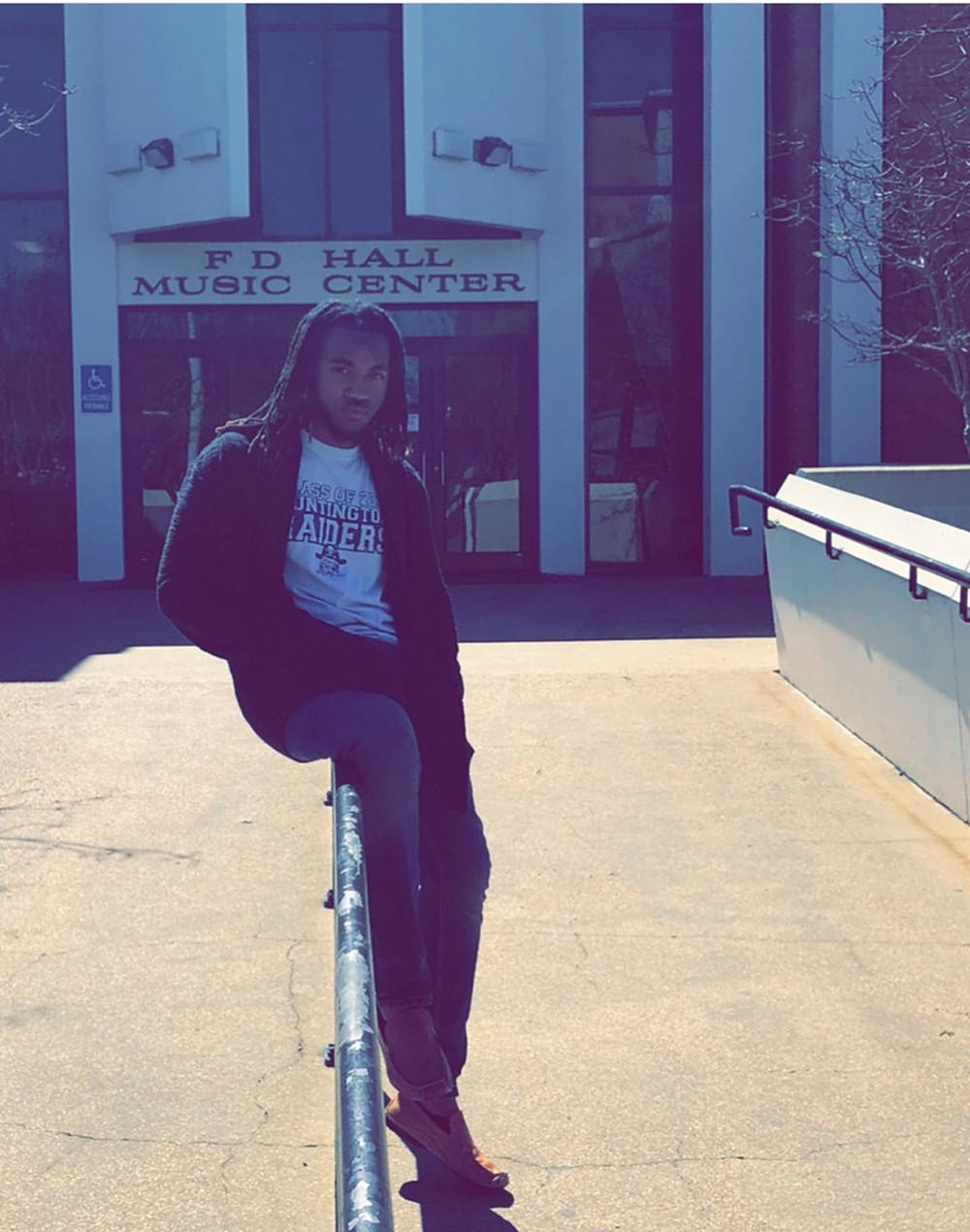 Marcus on the campus of Jackson State University
