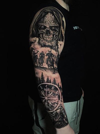 Full sleeve in progress for Chris. He sa