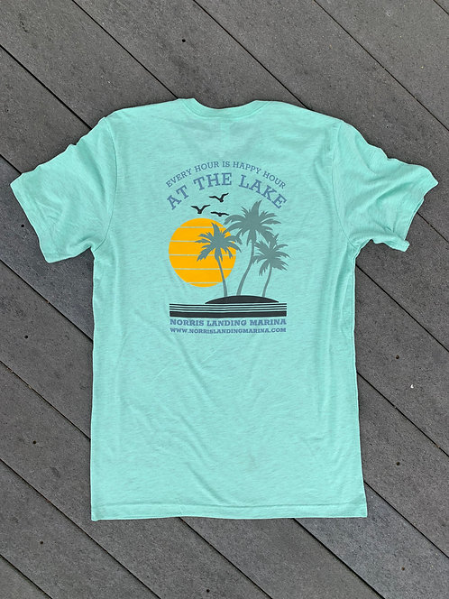 Happy Hour - Heather Mint Tee