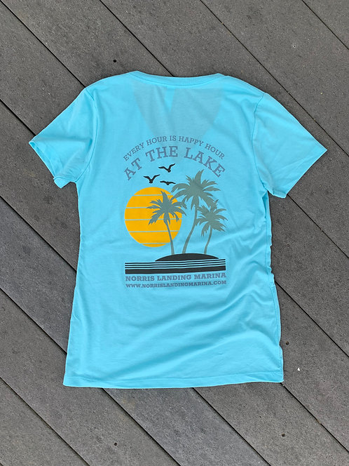 Happy Hour - Cancun Blue Tee
