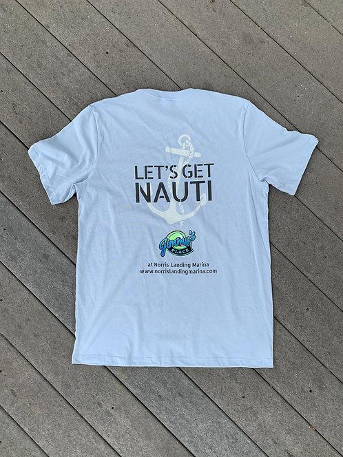 Let's Get Nauti - Light Blue Tee