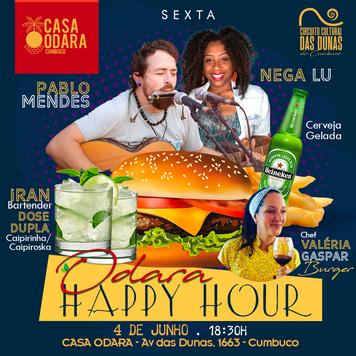 Odara Happy Hour - Casa Odara