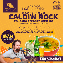 Caldi'n Rock Happy Hour - Recanto Mineiro