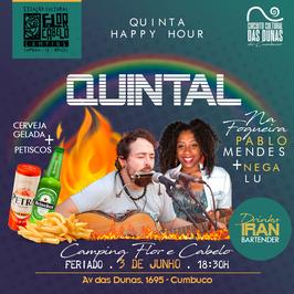 Quintal Happy Hour - Camping Flor e Cabelo