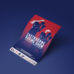 Eastbourne boxing show - November poster & illustration