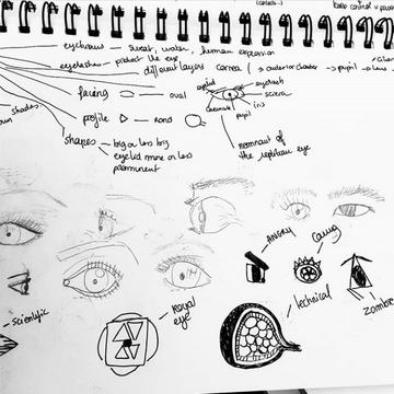 interpretations of an eye - Endivemole - Camille Obligis - Graphic design