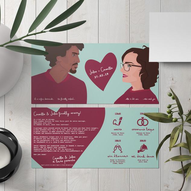 Invitation mariage - wedding invitation