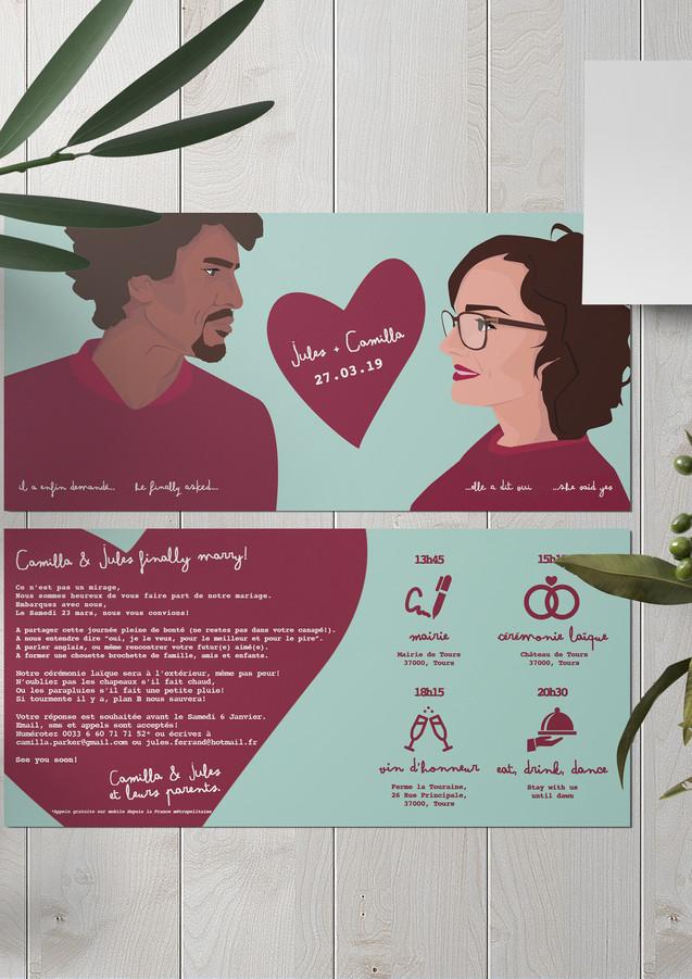 wedding invitation mariage endivemole ca