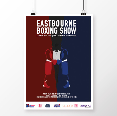 Eastbourne Boxing Show - Poster & Illustration