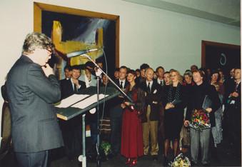 Hoogovens opening door Bram de Swaan