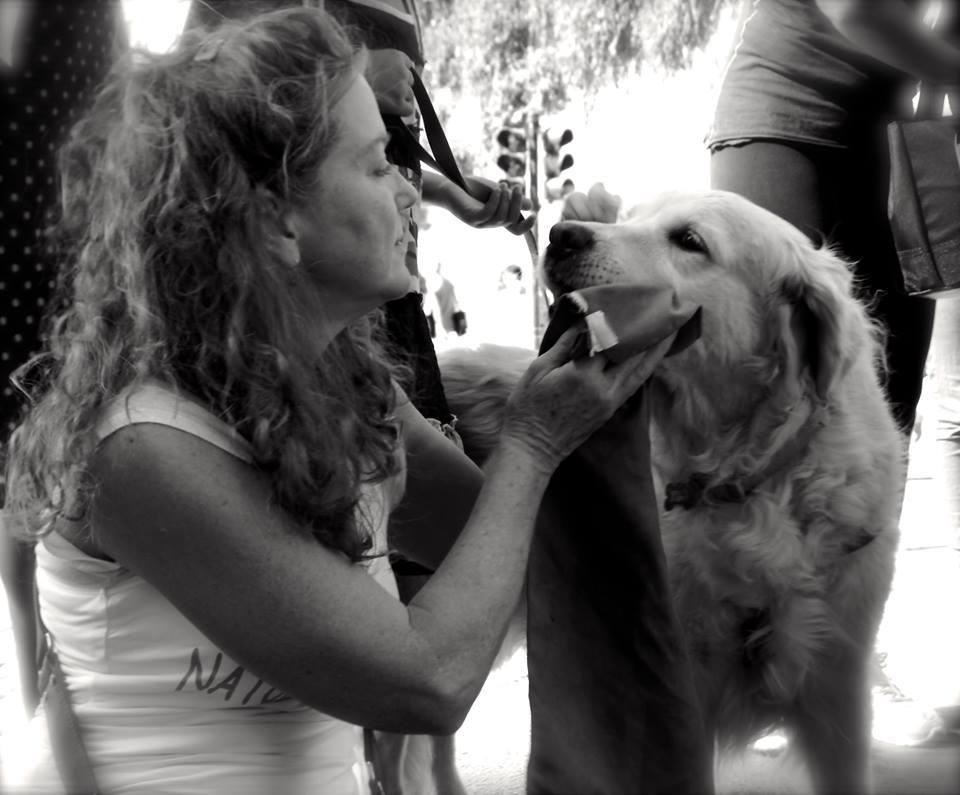 con il cane