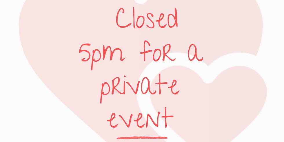 Closed for a private event