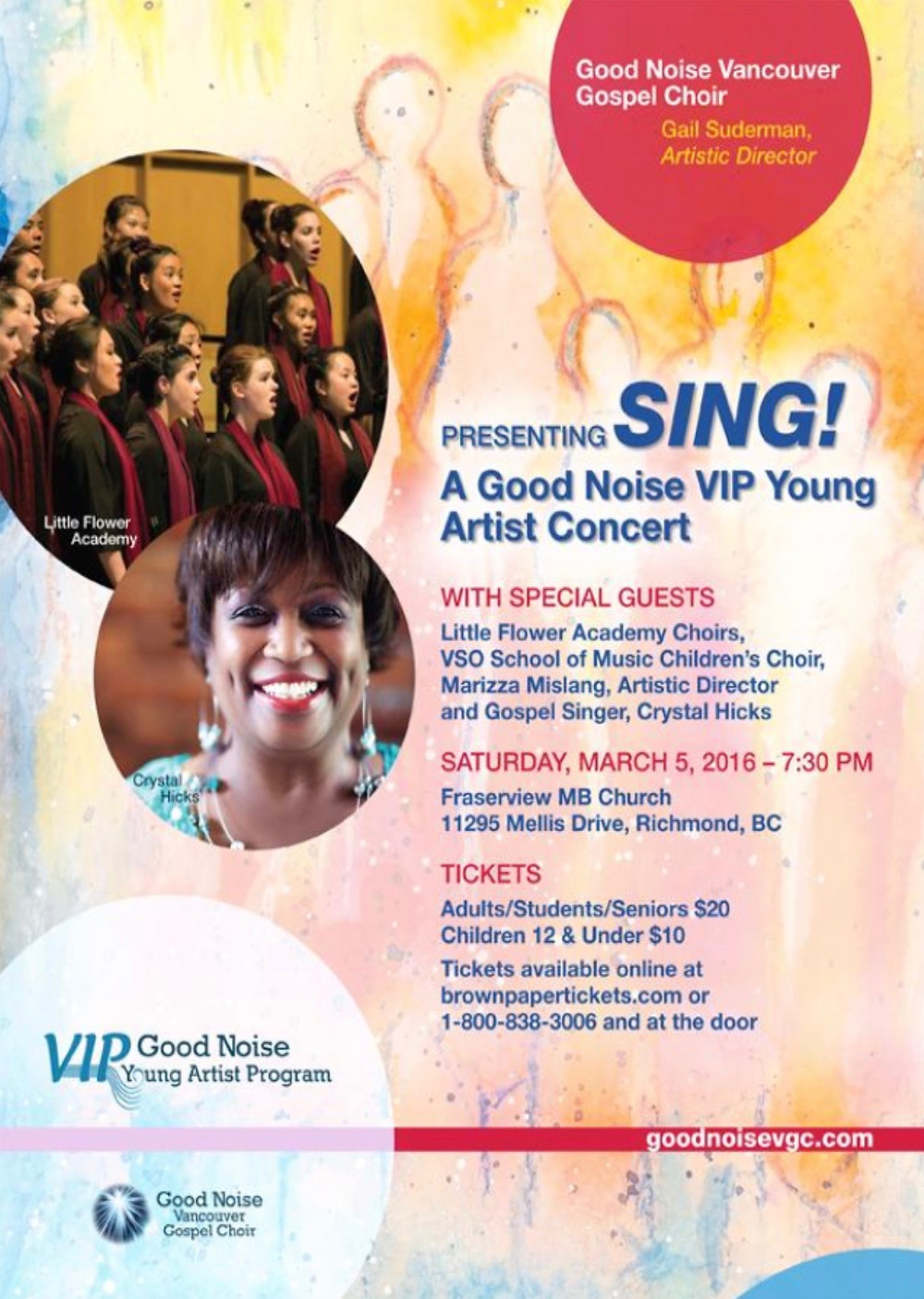 Sing! A Good Noise VIP Young Artist Concert