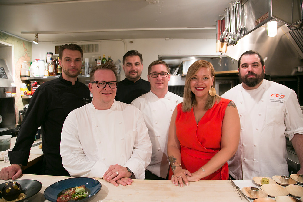 Diana with chefs from a James Beard Dinner
