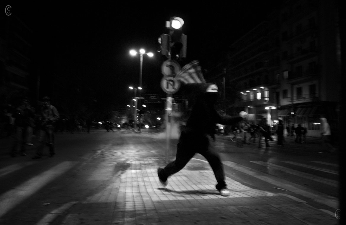 Clashes in Athens on Nov 17th 2011