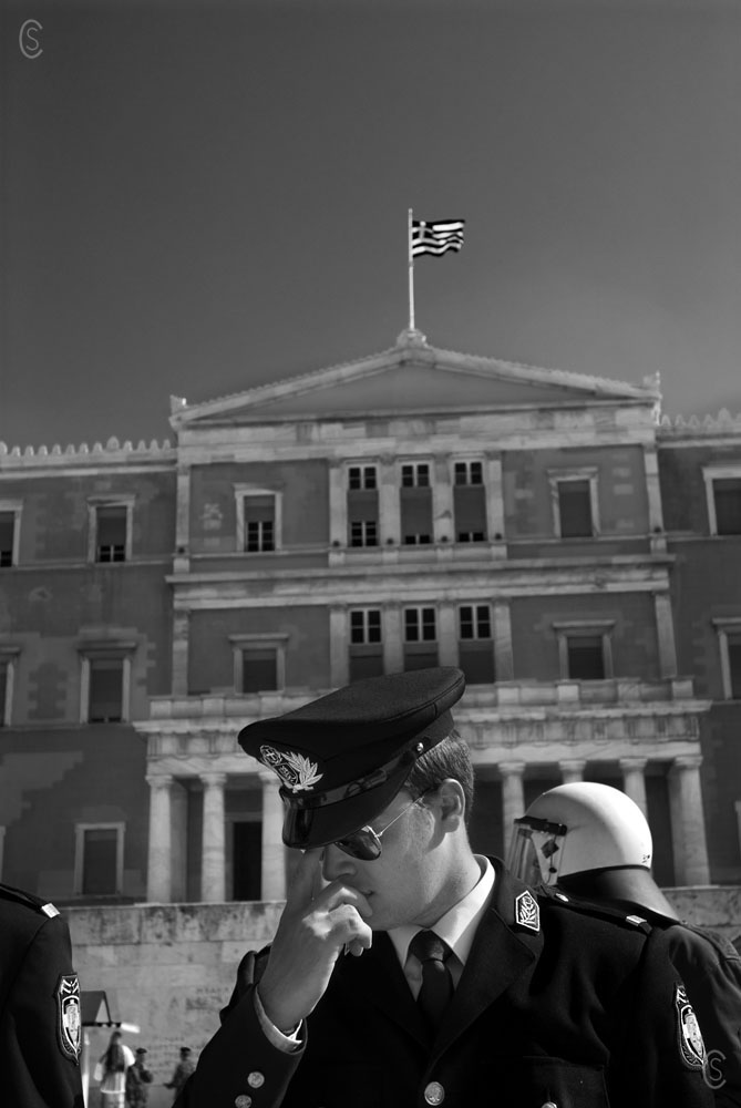 Greek Parliament in Athens-Ochi day