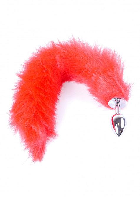 Μεταλλική Πρωκτική Σφήνα με Κόκκινη Ουρά Αλεπούς