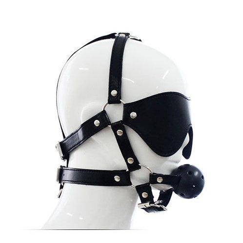 Δέσιμο Κεφαλιού με Φίμωτρο Head Harness & Ball Gag