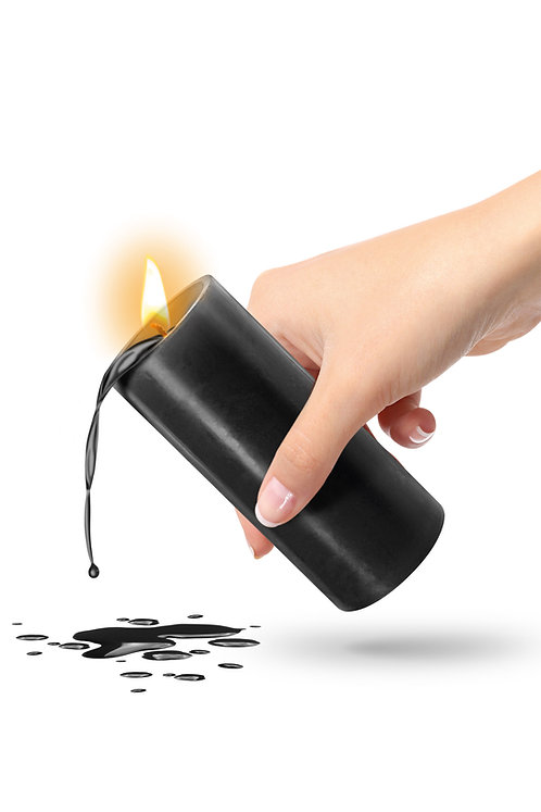 Μαύρο Κερί Χαμηλής Θερμοκρασίας Fetish Tentation