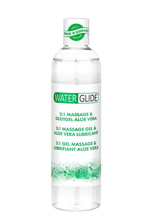 2 σε 1 Λιπαντικό για Μασάζ και Διείσδυση Με Βάση Νερού Και Aloe Vera-300ml