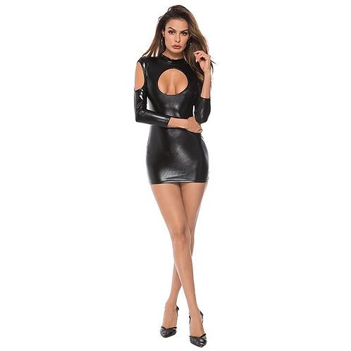Γυαλιστερό Μίνι Φόρεμα Με Κοψίματα - Body Pleasure