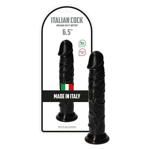 """Ρεαλιστικό Ομοίωμα Πέους """"Italian Cock 6,5"""" (16,6cm) - Μαύρο"""