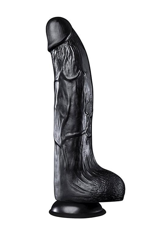 """Ρεαλιστικό Ομοίωμα Πέους """"Hoodlum"""" (20cm) - Μαύρο"""