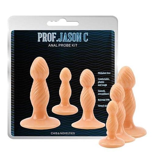 Σετ Πρωκτικά Dildos Prof. Jason C (3 τμχ)
