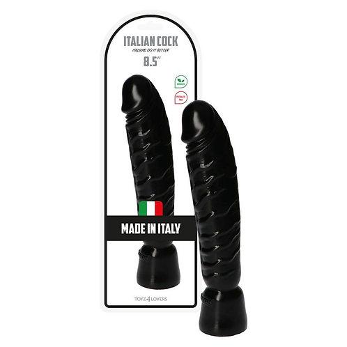 """Ρεαλιστικό Ομοίωμα Πέους """"Italian Cock 8,5"""" (21,5cm) - Μαύρο"""