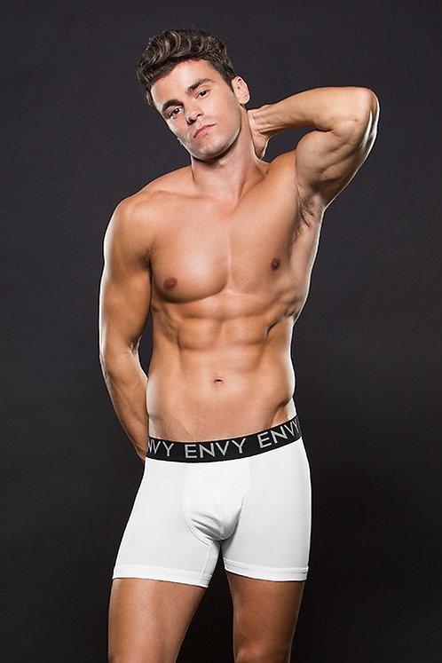 Ελαστικό Άσπρο Μποξεράκι S/M - Envy Men's Boxer Brief Low Rise Waist