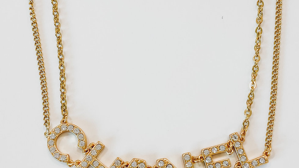 Big CC Gold Plated Necklace