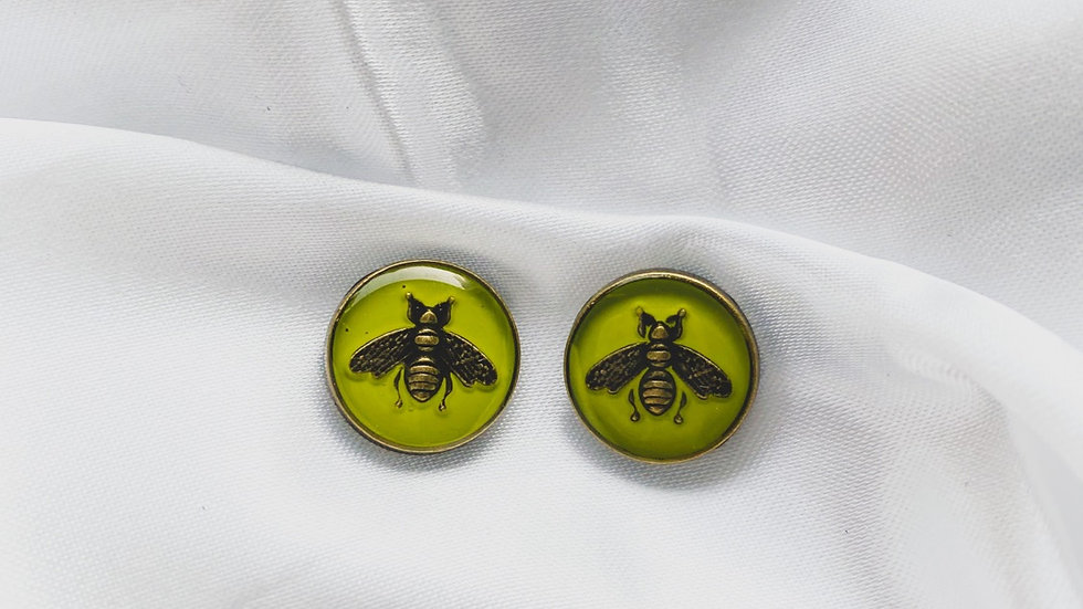 Gucci Bees Green Earrings