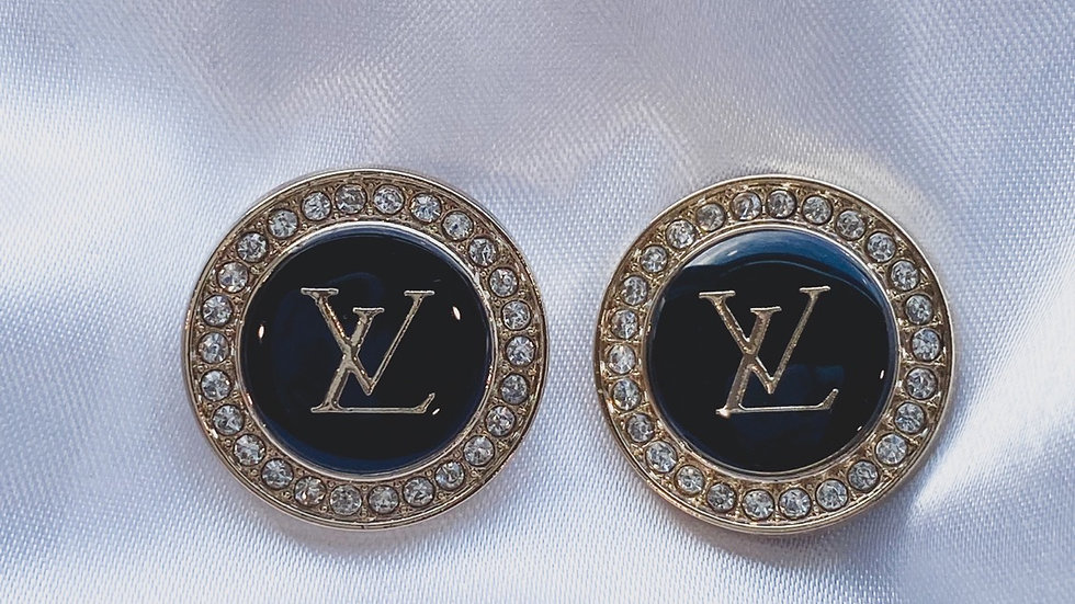 LV Black Earrings