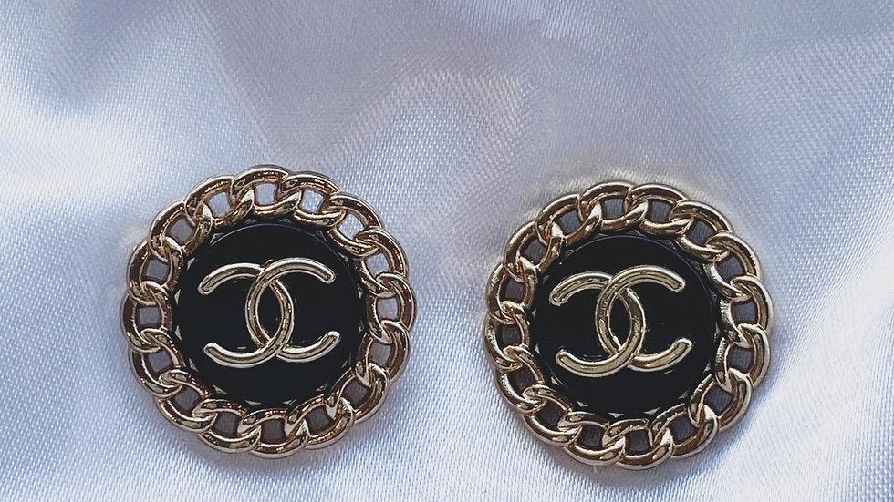 CC Black Earrings
