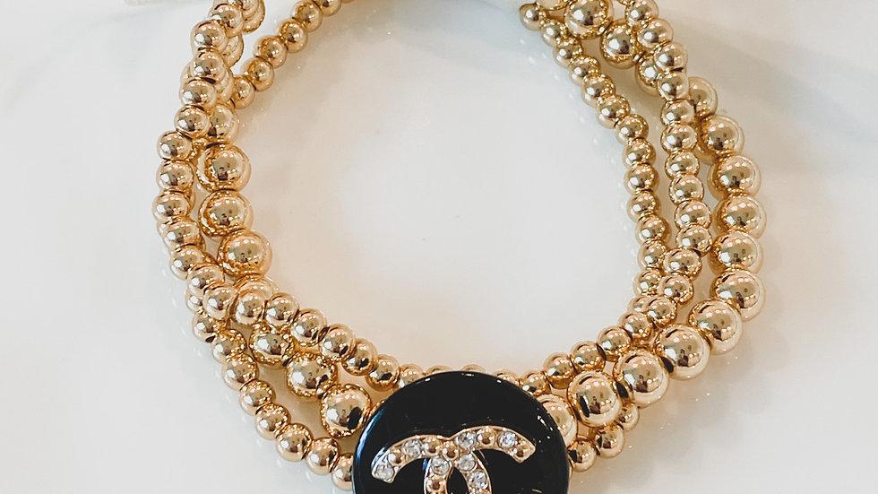 Brunch CC Beaded Bracelet