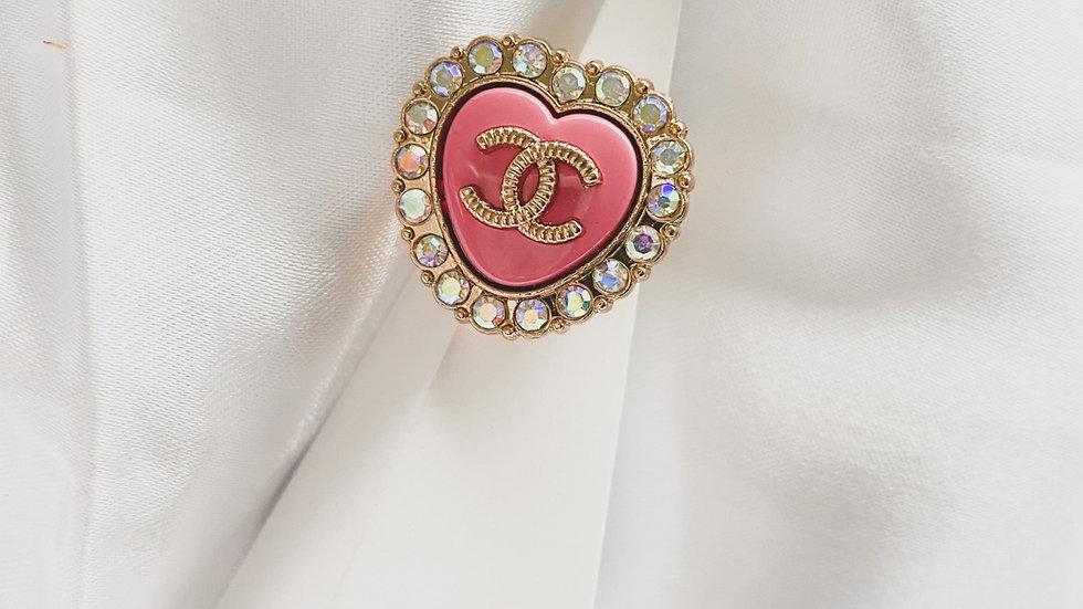 Pink Bling CC Ring