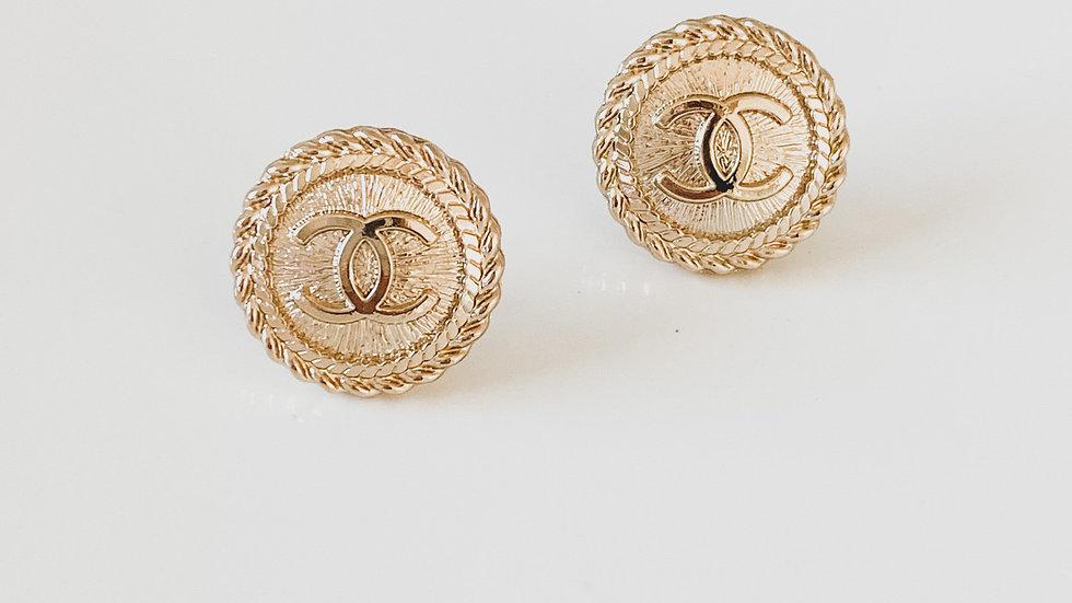 Golden CC Earrings