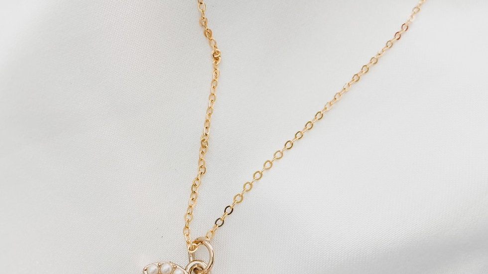 Open Pearl CC Necklace