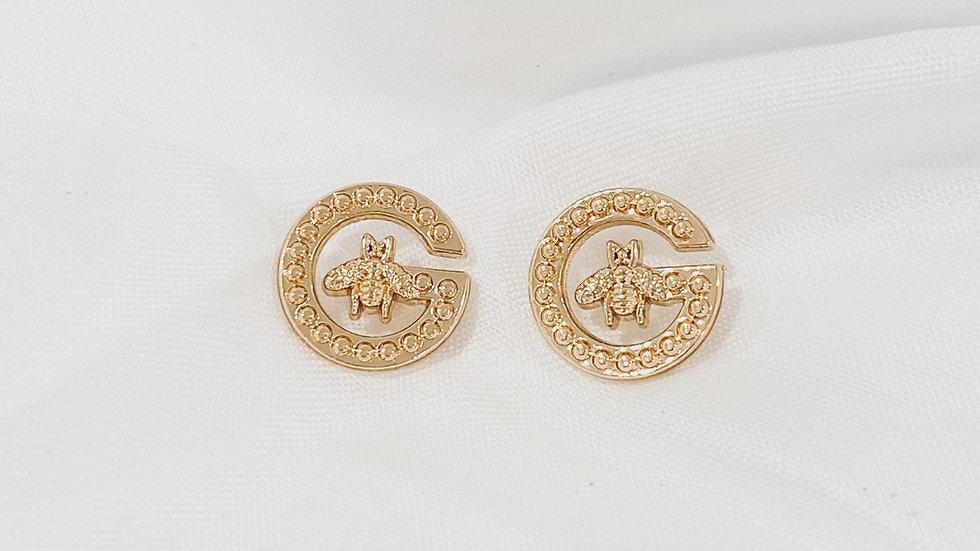 Bee G Gold Earrings