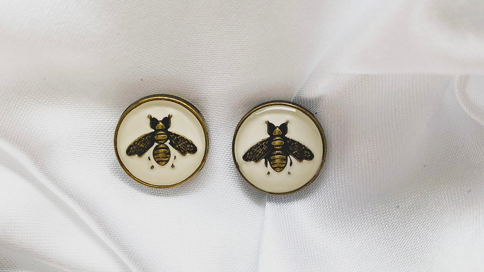 Gucci Bees White Earrings