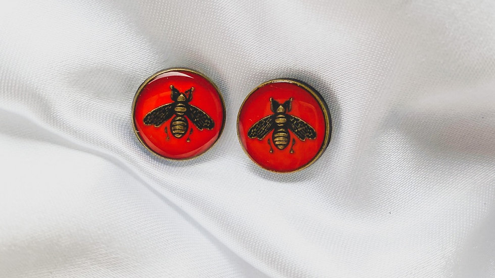 Gucci Bees Red Earrings