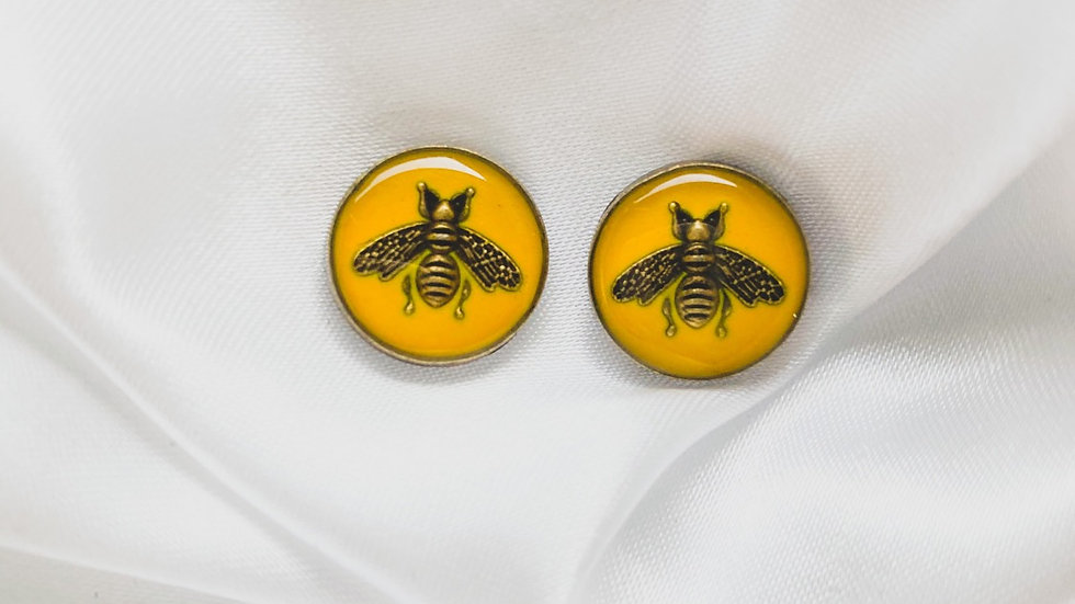 Gucci Bees Yellow Earrings