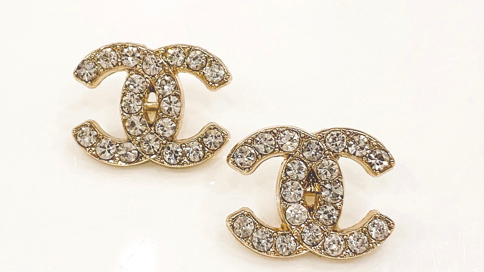 Swarovski Crystal CC Earrings