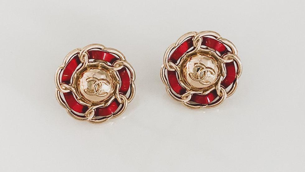 Scarlet Red CC Earrings