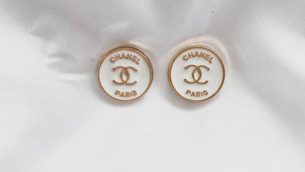 Mini Blanca CC Earrings