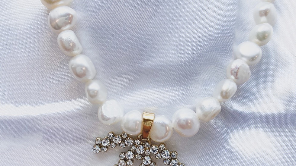 Goddess Pearl CC Necklace