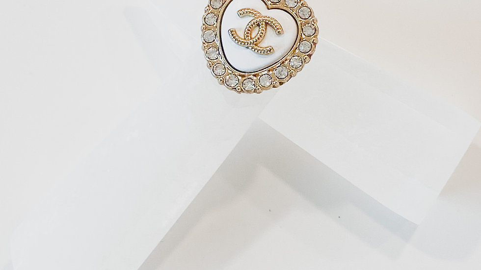 White Heart CC Ring