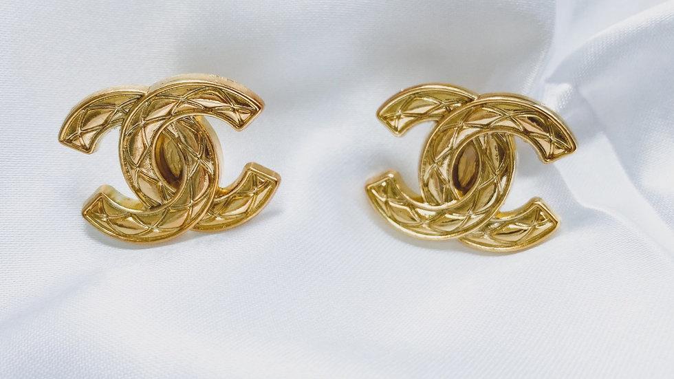 Large Bossy CC Earrings